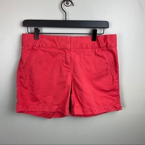 J. Crew city fit shorts/ red/size 2
